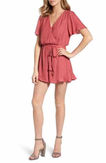 astr ruffle romper front