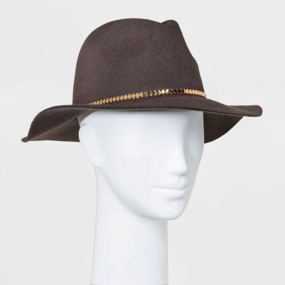 rancher hat, gold accent