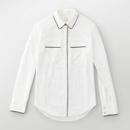 white crepe blouse